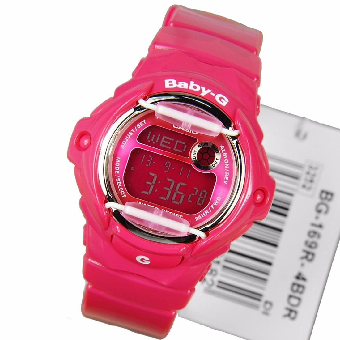 845f0850c0f Relogio Casio Baby G Bg169r Rosa G Shock 200 Mts Original