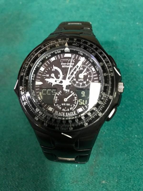 Reloj Citizen Pulso Eco Drive Edic Esp Skyhawk Black Eagle