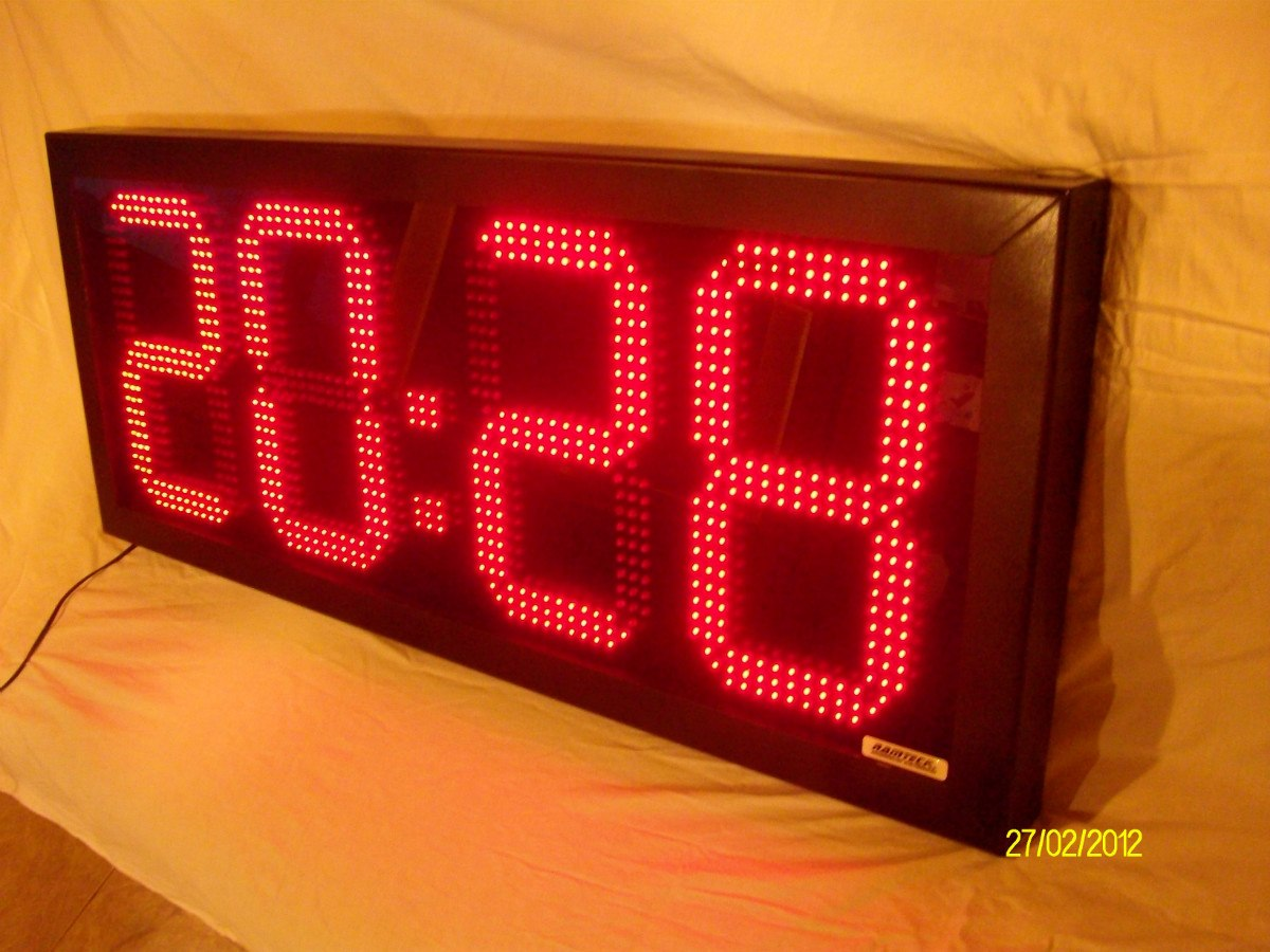 Reloj Digitales Led Cronometro Gigante 95cmx40cm   22