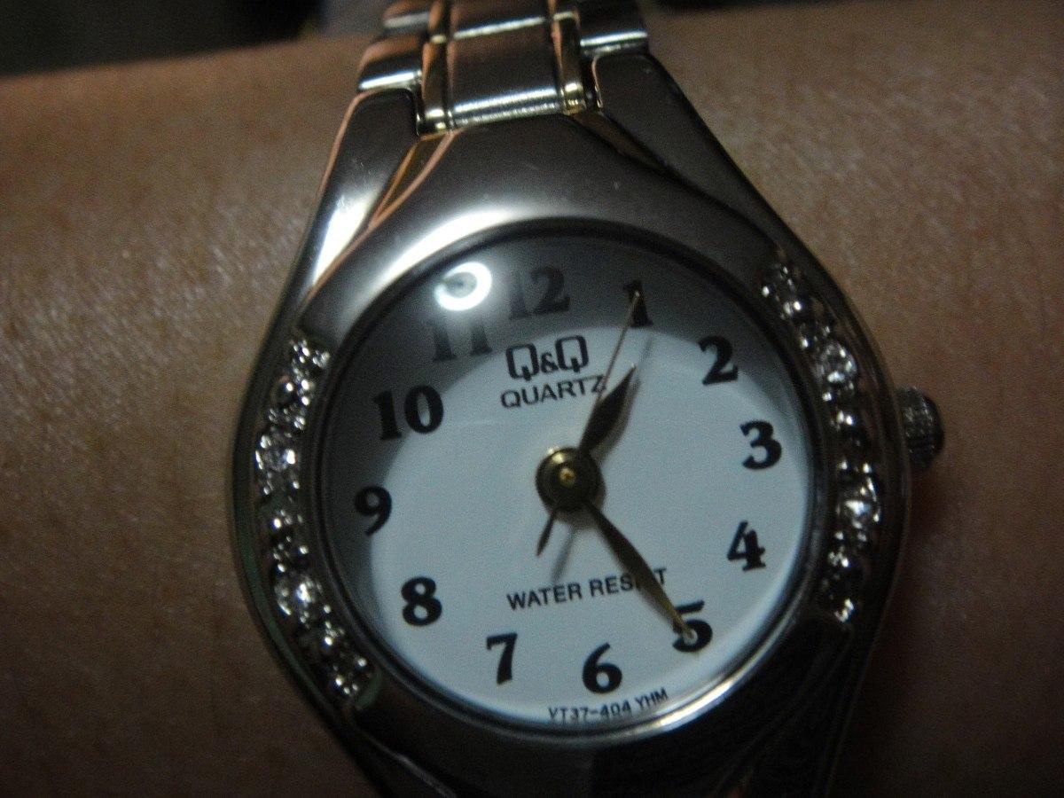 Reloj Qq Quartz De Dama Plateado Base Metal   40000 en
