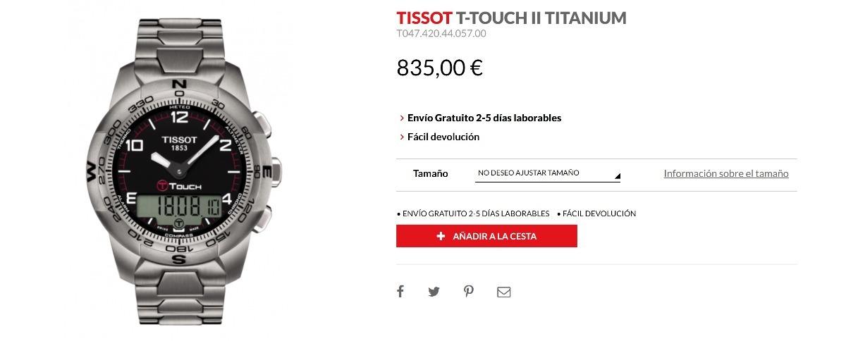 Reloj Tissot T-touch 2 Titanium Ti Smart Watch Touch