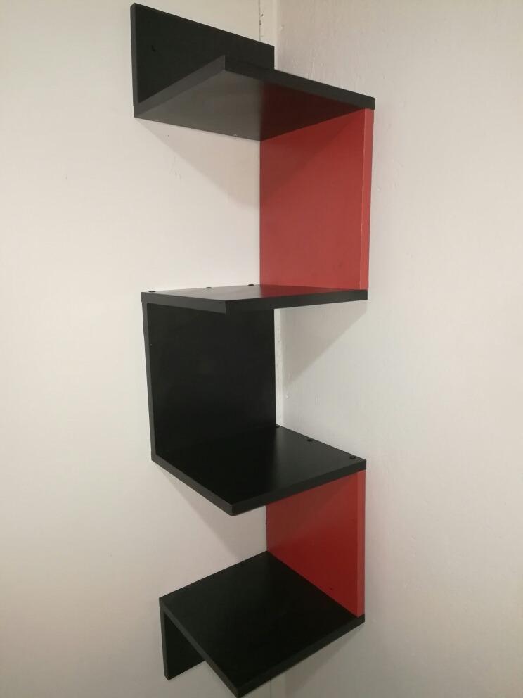 Repisas Flotantes Rojo Con Negro   15000 en Mercado Libre