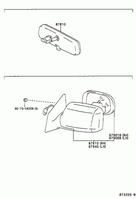 Retrovisor Der Manual De Toyota Yaris 2002 87910-52280