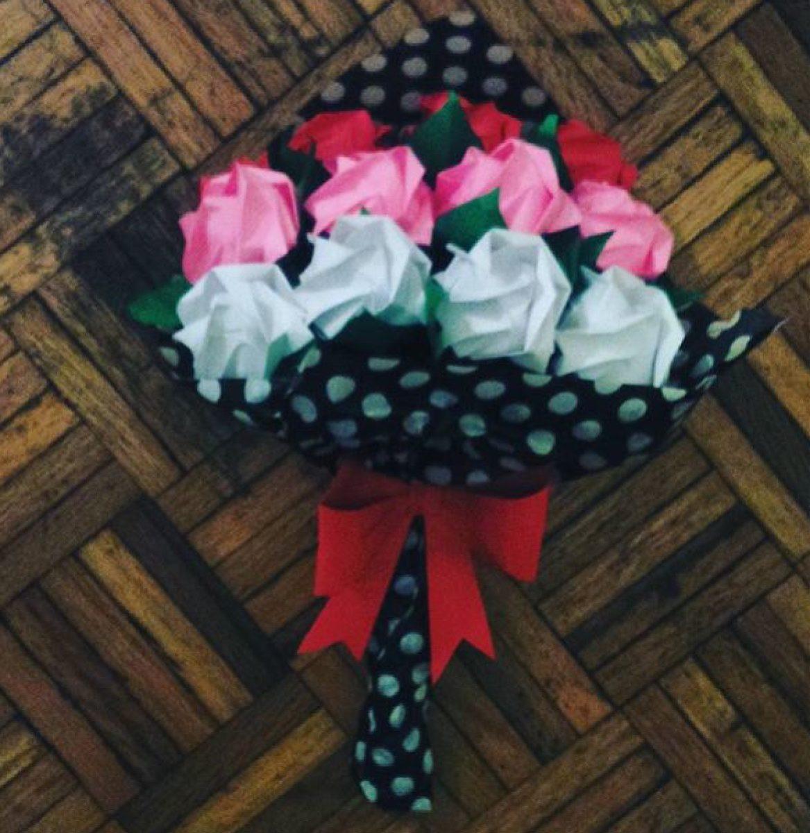 Rosas Flores De Papel Origamipapiroflexia   2000 en Mercado Libre