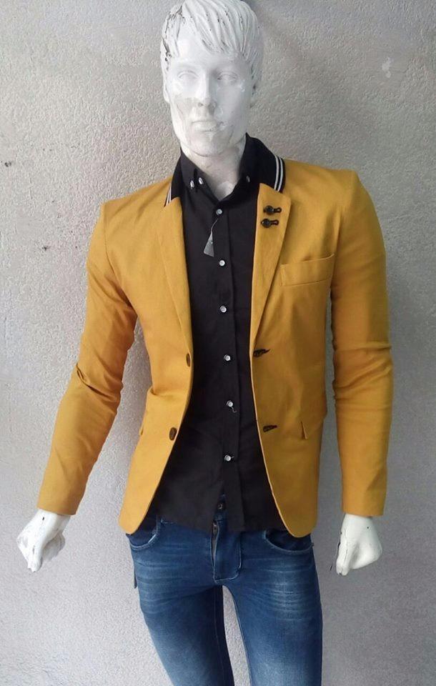 Saco De Caballero Color Mostaza   85000 en Mercado Libre