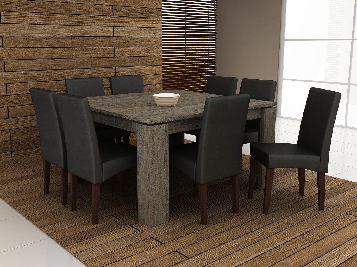 Jogo De Mesa Com 8 Cadeira Para Sala De Jantar Ammo  R 2