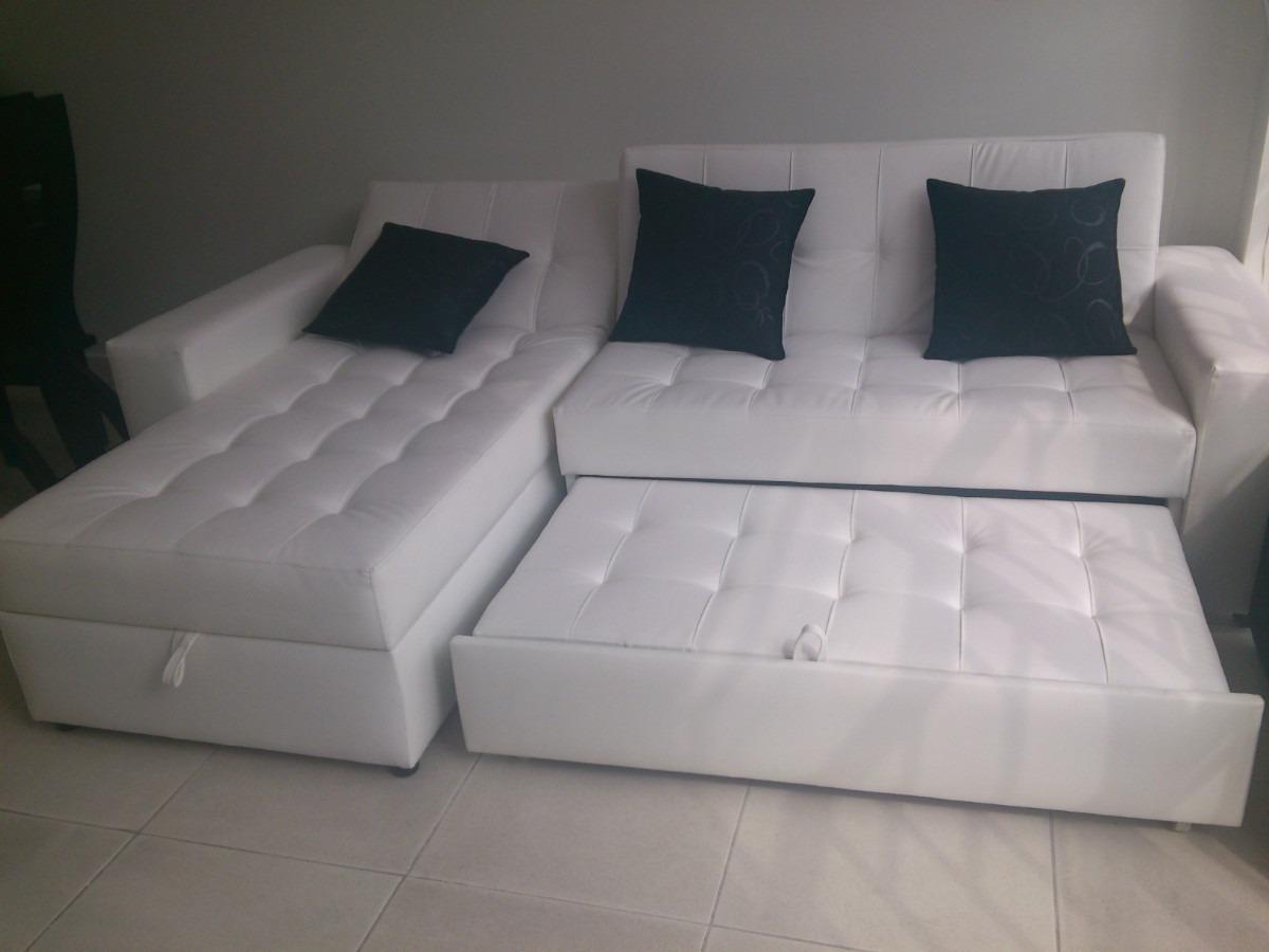 sofa cama bogota colombia domicil sala moderna con baul puff y 3 cojines