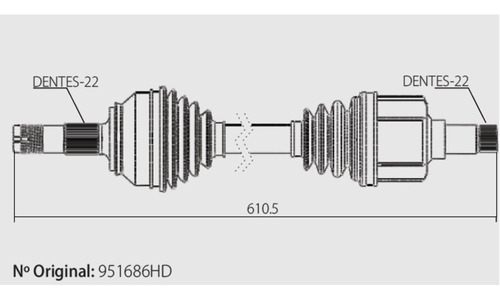 Semi Eixo Homocinetica Corsa Wagon 1.0 1.4 1.6 2001