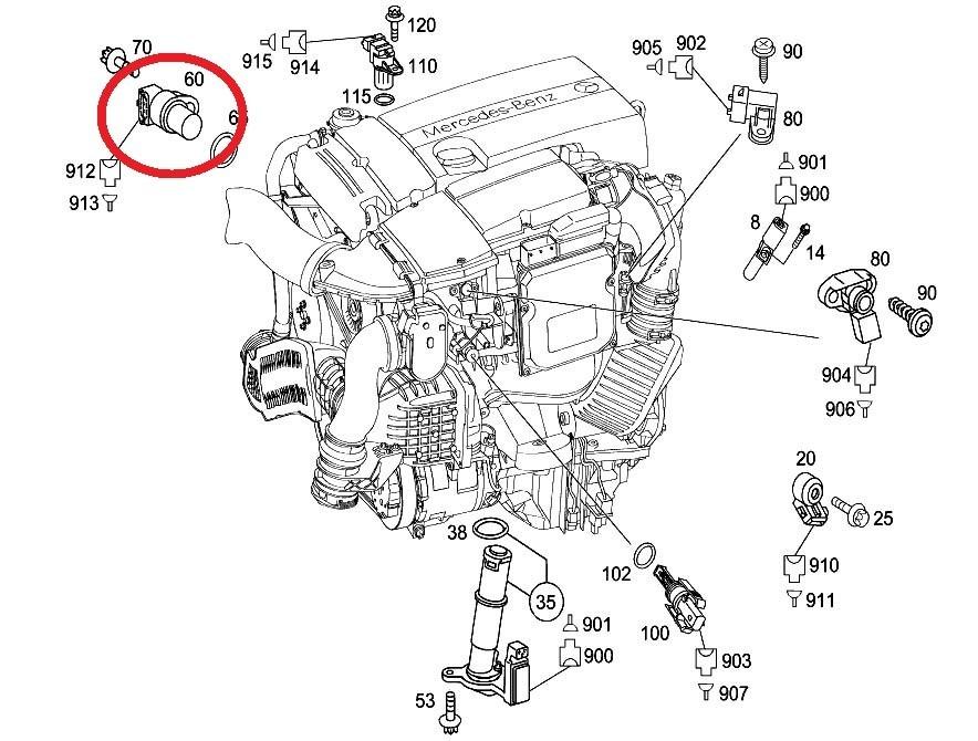 Sensor Posição Comando Porsche 911 Carrera Gt2 Rs 3.6 10