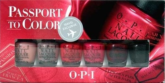 Set 6 Esmaltes Uas Opi Passport To Color Travel Size  Bs