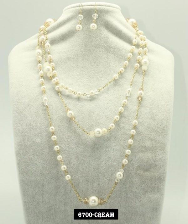 4e5b7b54172c Set Collar Aretes Perla Cristal Bisuteria Fina Mayoreo - Year of ...