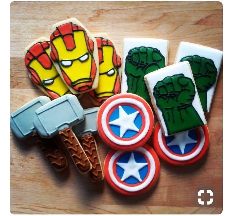 Set Moldes Avengers 2 Cortador Galleta Fondant Repostera