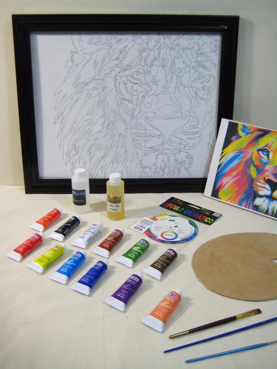 Set Pintura Oleo Kit Arte Pintar Len Colores Con Marco   125000 en Mercado Libre