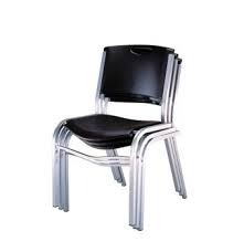 Silla Apilable Lifetime Color Negro   139900 en Mercado Libre
