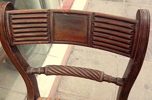 Silla Inglesa Regencia En Caoba Original De Epoca   5