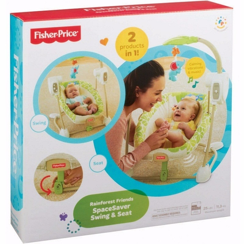 Silla Mecedora Automatica De Bebe Fisher Price Portatil