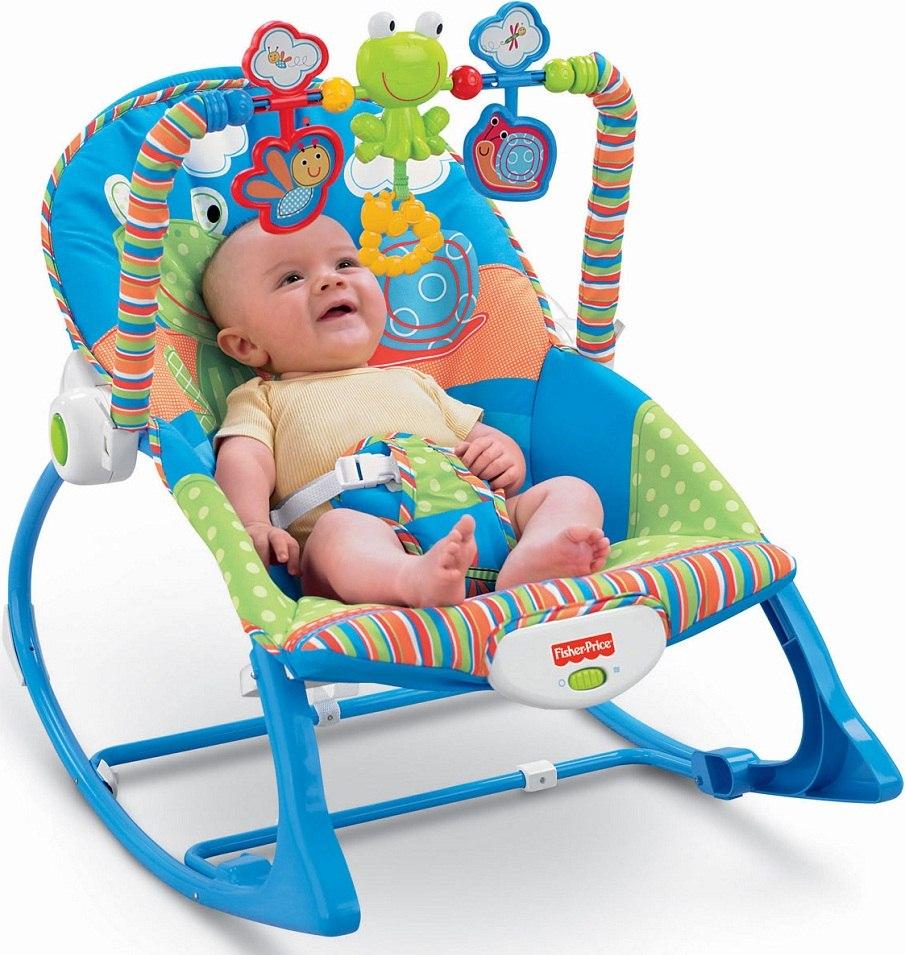 Silla Mecedora Para Bebe Importada Marca Fisher Price