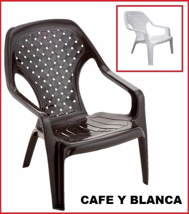 Silla Mecedora Piscina Blanca Wengue Cafe Plastica Rimax