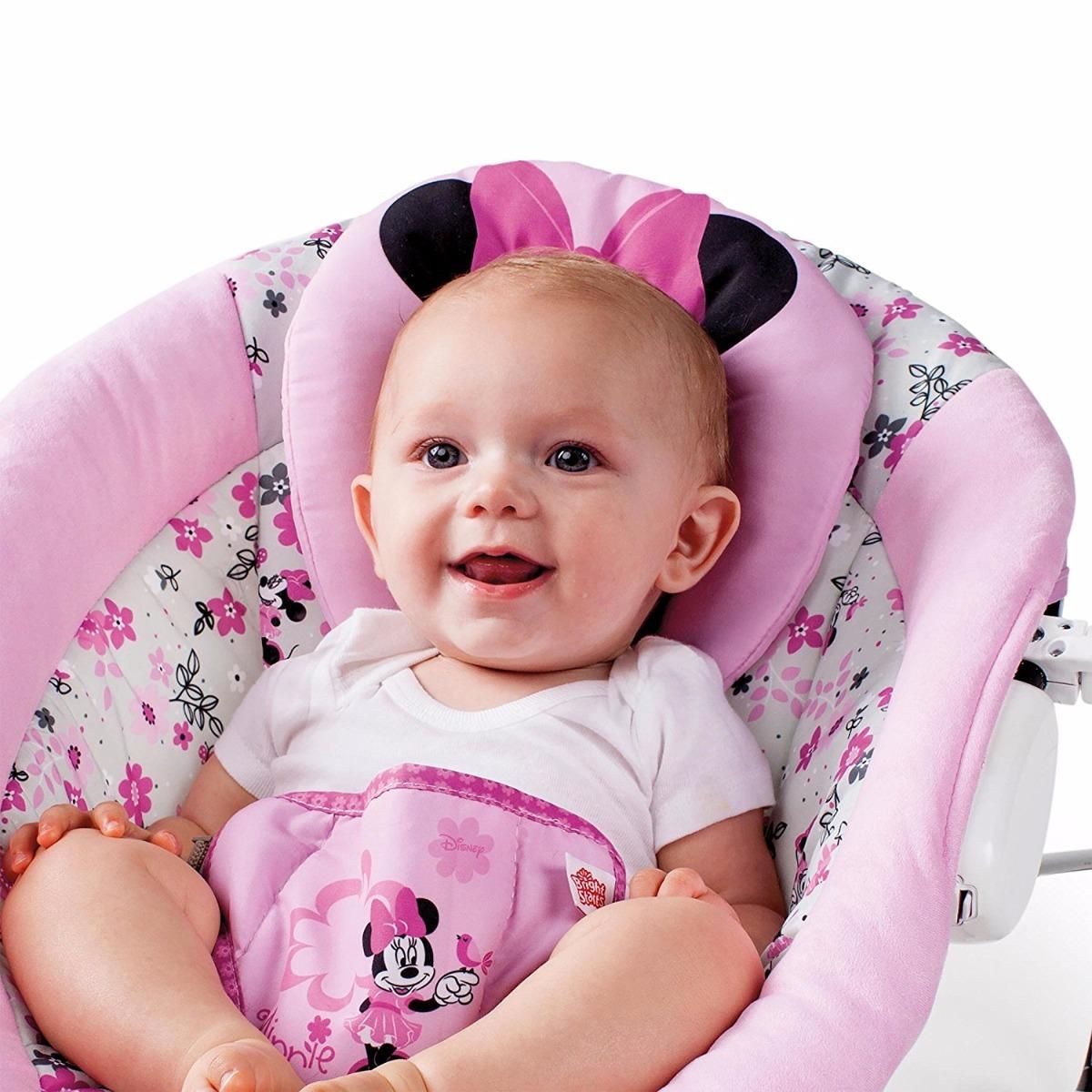 Silla Mesedora Para Bebe Minnie Mouse Mimi Mini Envio