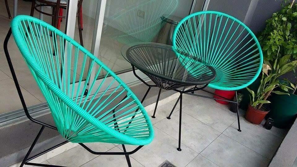 Sillas Acapulco Juego De 3 Piezas   250000 en Mercado