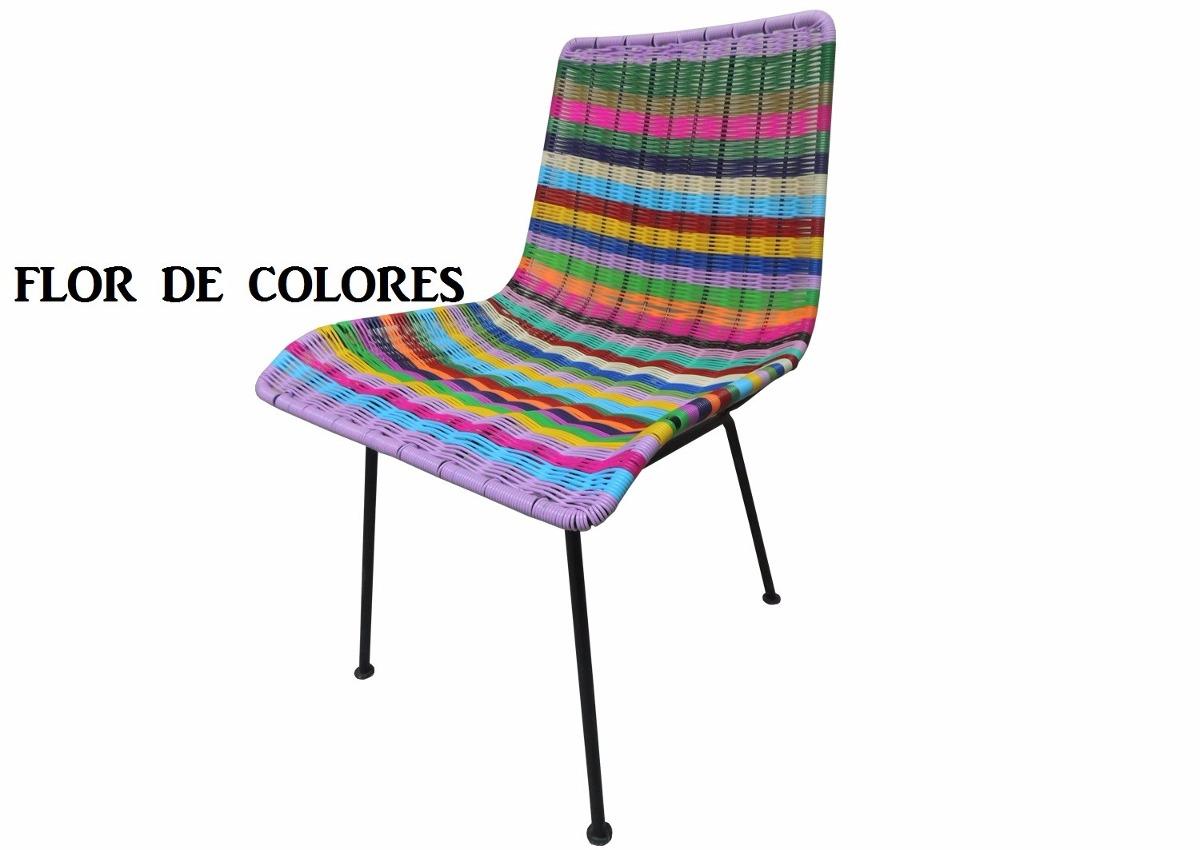 Sillas Acapulco  Vinilos Flexibles Silla Tejida Flor