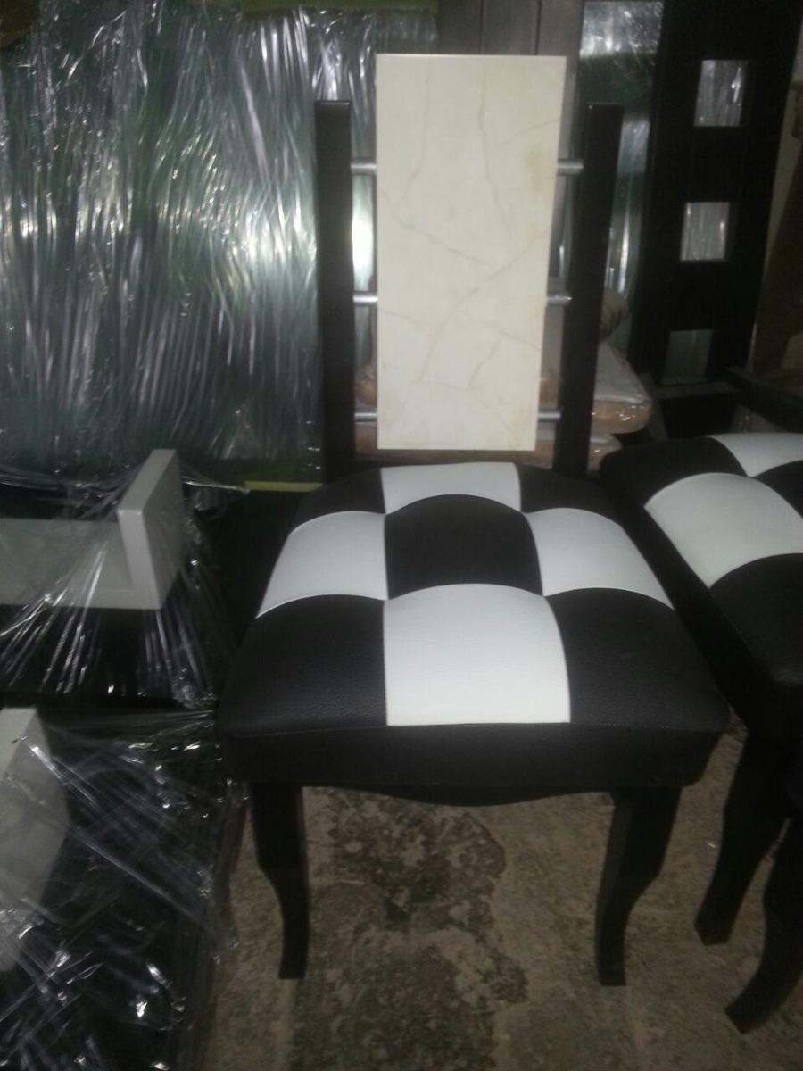 Sillas Modernas  Comedor  Tapizadas  Madera  Bs 3500