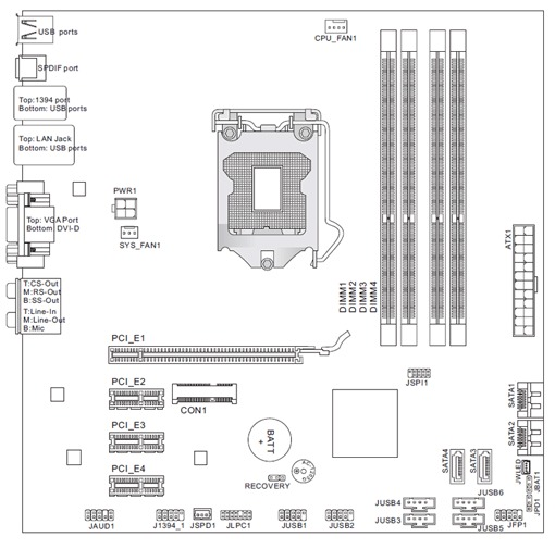 Placa Mãe Hp Ms-7613 Socket 1156 Com Core I3 530 2.93ghz