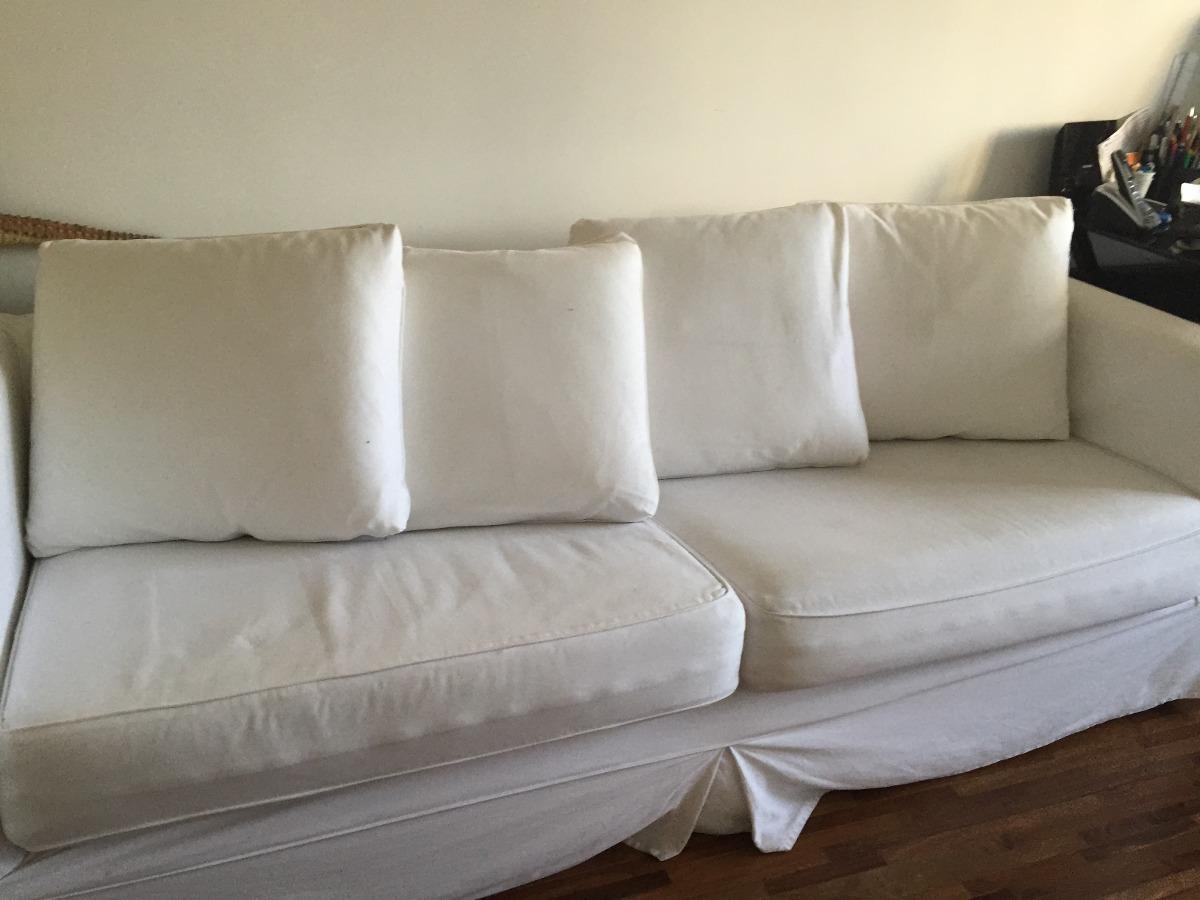 sofa usado no mercado livre and recliner sets 3 lugares branco r 700 00 em