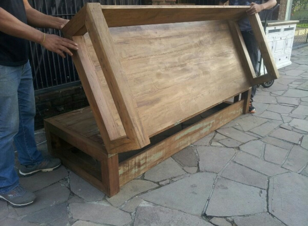 sofa usado no mercado livre gus modern convertible sofá cama madeira demolição rústico r 1 999 00 em