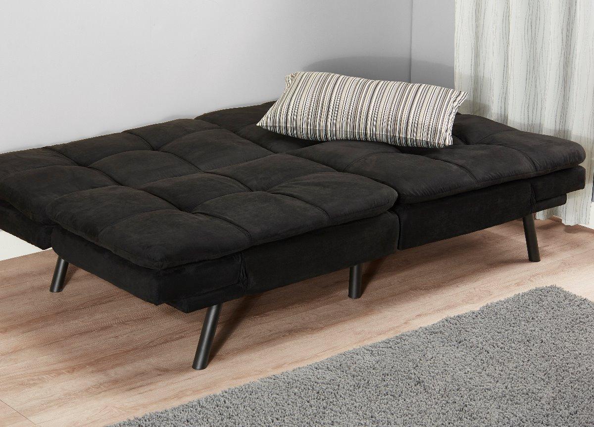 Sofa Cama Memory Foam Futon Negro Cargando Zoom