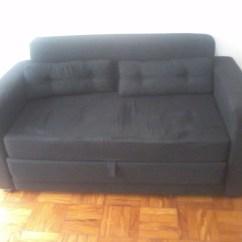 Sofa Usado No Mercado Livre French Connection Zinc Sofá Cama Tock Stock Preto 02 Lugares R 700 00 Em