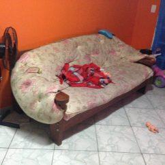 Sofa Usado No Mercado Livre Clic Tufted Sofá De 3 Lugares Madeira Maciça R 750 00 Em