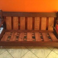 Sofa Usado No Mercado Livre Olx Espirito Santo Sofá De 3 Lugares Madeira Maciça R 750 00 Em