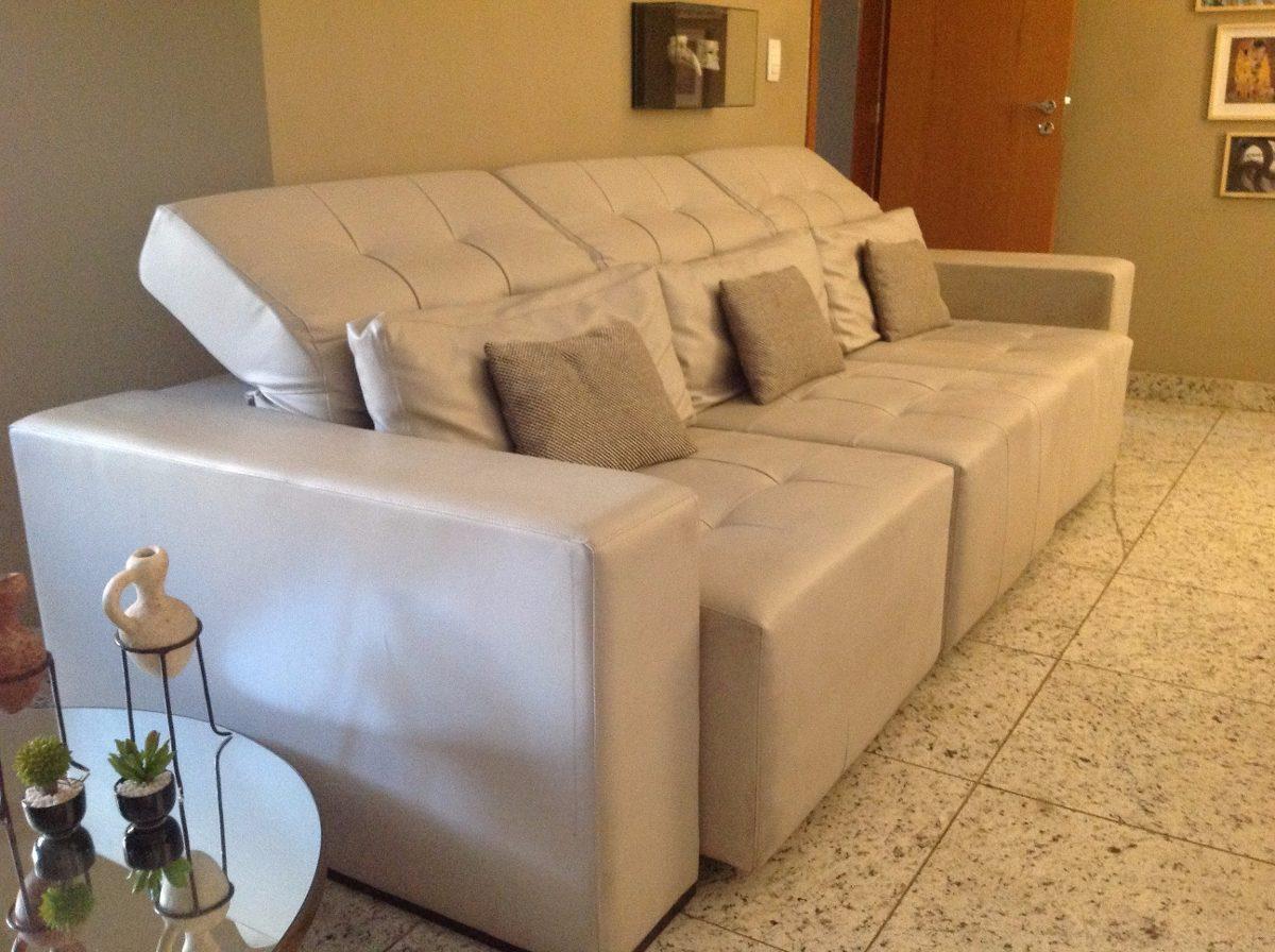 sofa usado no mercado livre best memory foam mattress topper for bed sofá retrátil couríssimo cinza claro 3 lugares novo r