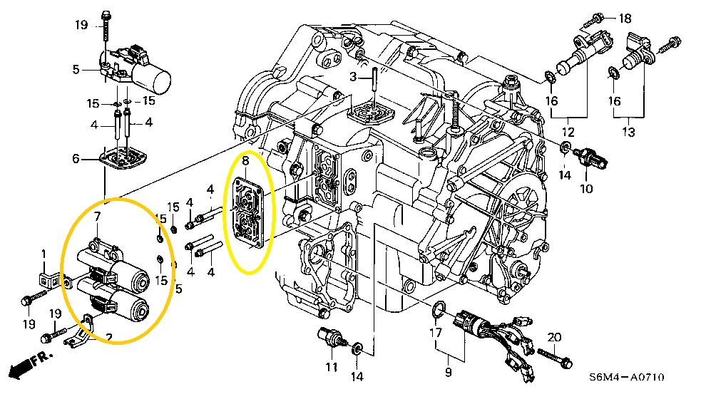 Solenoide Honda Crv, Accord Y Element Transmisión