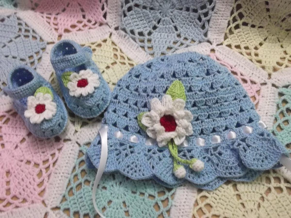 Sombreritos Para Bebe Tejido A Mano A Crochet  S 5000 en Mercado Libre