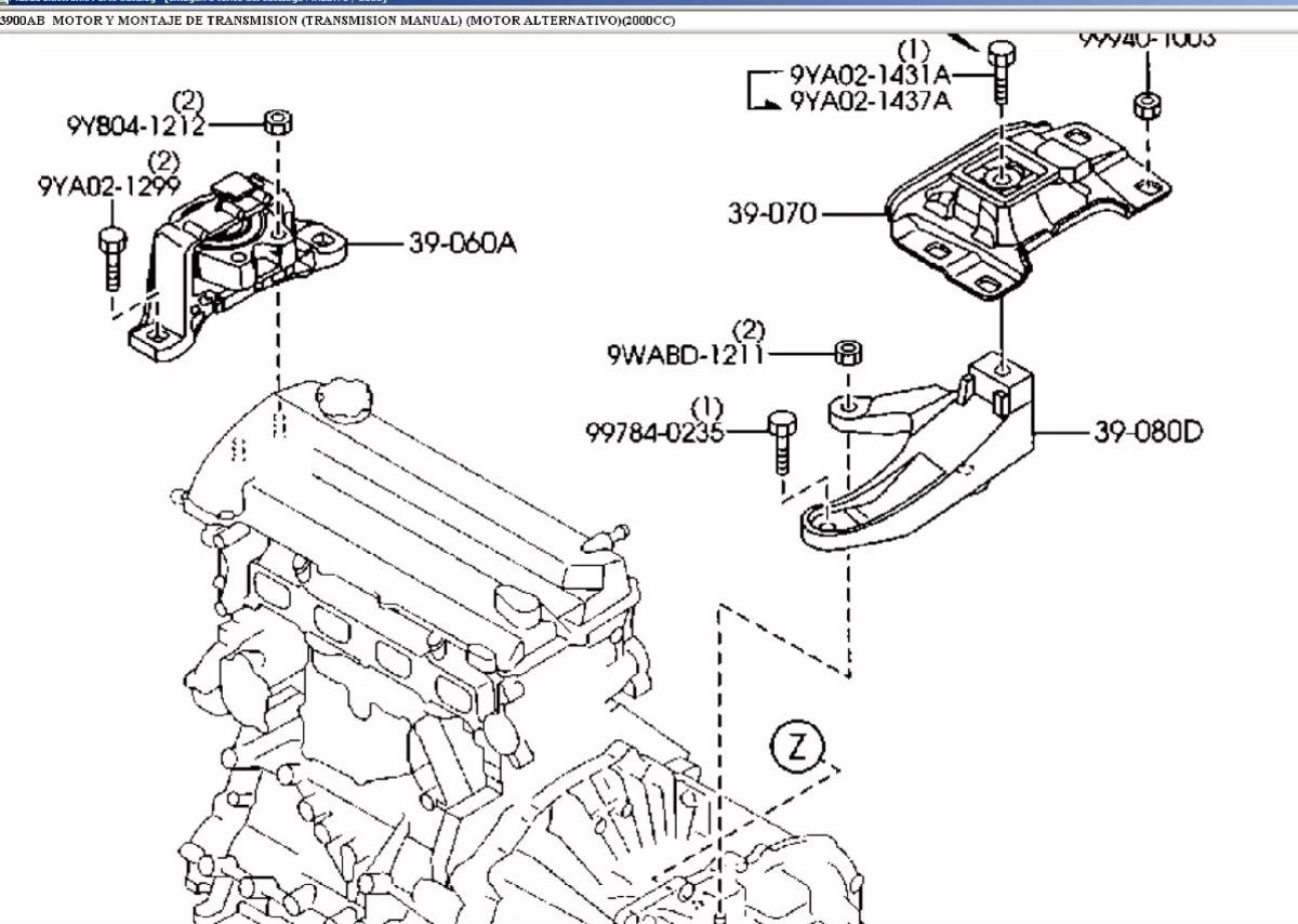 Soporte De Motor Distribucion Derecho Mazda 3 2.0 Cc