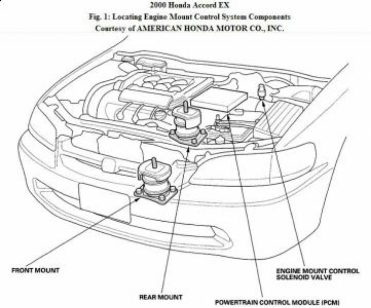 Soporte Motor Honda Accord V6 3.0 Modelo 1998 A 2002