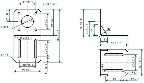 Soporte Nema 17 , Bracket Nema 17 , Impresora 3d , Router