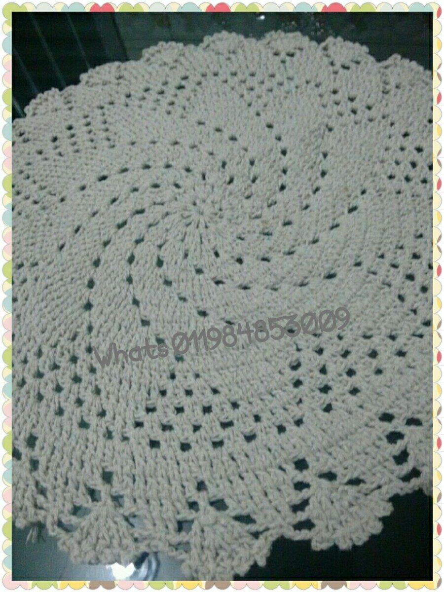 Sousplat De Croch  R 1800 em Mercado Livre