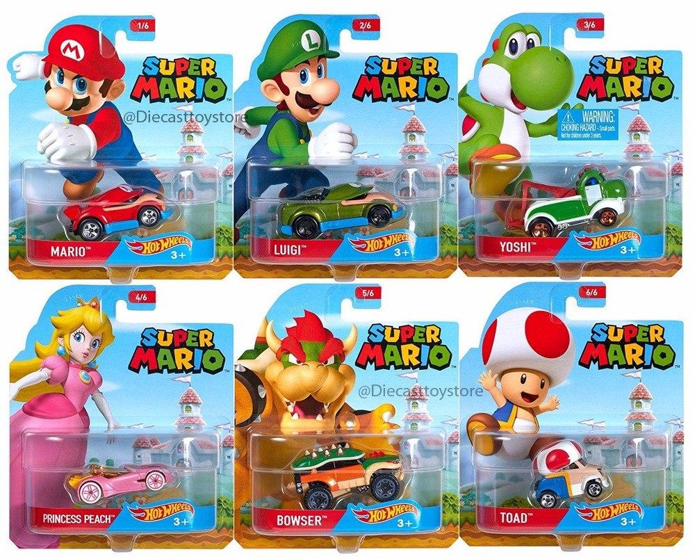 Super Mario Bros Hot Wheels Serie 6 Coches Dmh73 - $ 699.00 en Mercado Libre