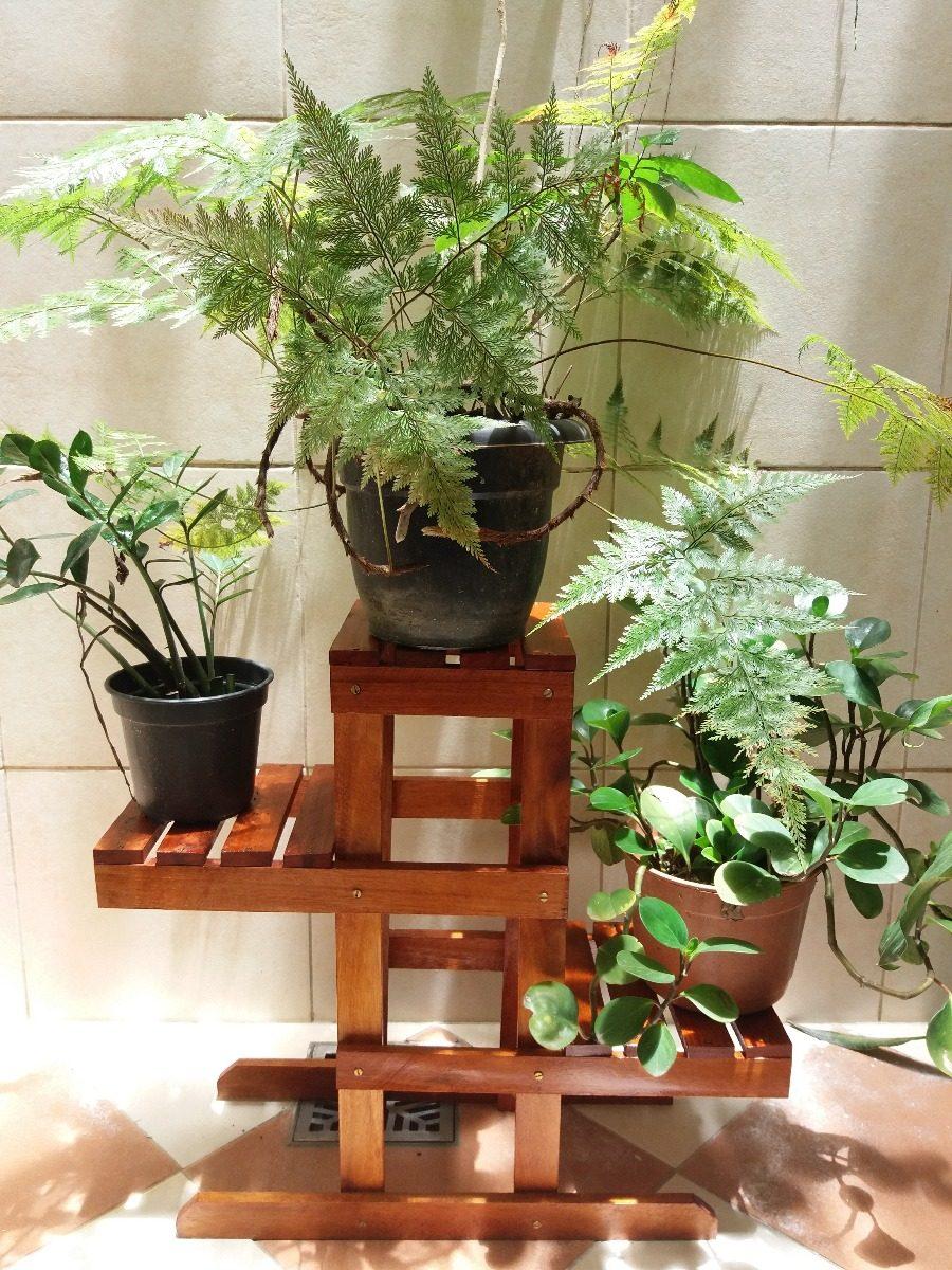 Suporte Em Madeira Para Vasos Plantas Expositor Flores  R