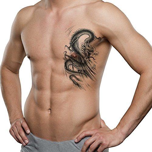 Tafly Hombres Espalda Baja Hombro Brazo Tatuajes Temporales