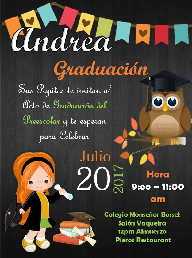 Tarjeta De Invitacion Para Graduacion Togo Wpart Co