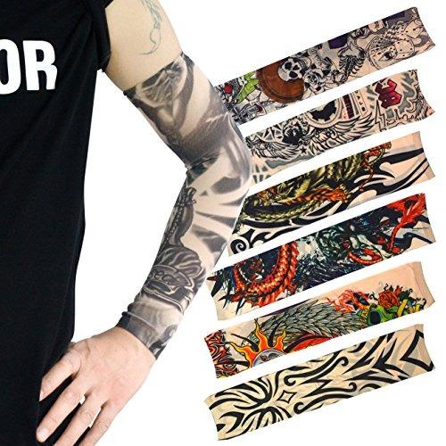 Tatuaje Temporal Hoveox Para Brazo Diseño Tribal Tigre D