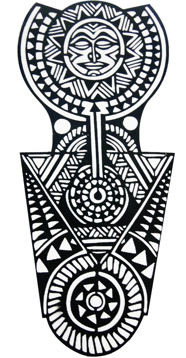 Tatuaje Tribal Para El Hombro Tatuajes Temporales Bs 090 En