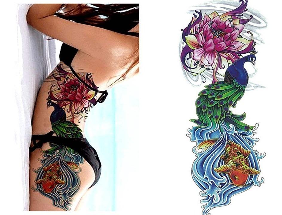 Tatuajes Temporales Brazo Pierna Torso Hombre Mujer 4 Piezas