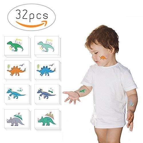 Tatuajes Temporales De Dinosaurios No Tóxicos Para Niños