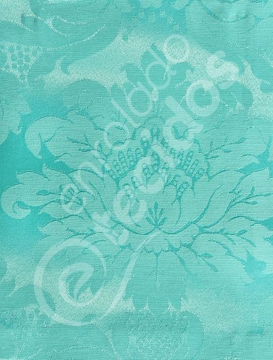 Tecido Jacquard Azul Verde Tiffany Adamascado 1m X 28m