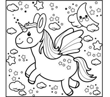 Livro de colorir unicórnio para crianças! Tela De Pintar Unicórnio - R$ 37,00 em Mercado Livre